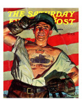 """Tank Tattoo "" Saturday Evening Post Cover  November 8  1941"