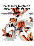 """Winter Vacation "" Saturday Evening Post Cover  February 10  1940"