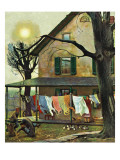 """Hanging Clothes Out to Dry "" April 7  1945"