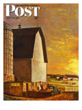 """Dairy Farm "" Saturday Evening Post Cover  July 19  1947"