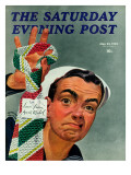 """Ugly Tie "" Saturday Evening Post Cover  May 23  1942"