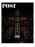 """Stained Glass Window "" Saturday Evening Post Cover  April 24  1965"