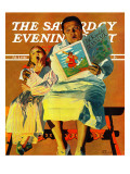 """Jack And The Beanstalk "" Saturday Evening Post Cover  February 3  1940"