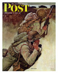 """Signal Corpsmen During Battle "" Saturday Evening Post Cover  September 9  1944"