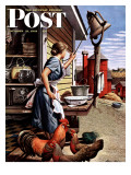 &quot;Dinner Bell &quot; Saturday Evening Post Cover  October 21  1944