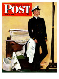 &quot;New Naval Officer &quot; Saturday Evening Post Cover  July 10  1943