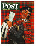 """Scotsman with Savings Bonds "" Saturday Evening Post Cover  October 9  1943"