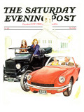 """New & Old "" Saturday Evening Post Cover  September 1  1971"