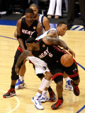 Miami Heat v Dallas Mavericks - Game Five  Dallas  TX -June 9: LeBron James  Chris Bosh and Shawn M
