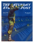 """Bootcamp Reveille "" Saturday Evening Post Cover  August 2  1941"