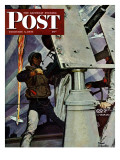 """Anti-Aircraft "" Saturday Evening Post Cover  February 5  1944"