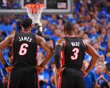 Miami Heat v Dallas Mavericks - Game Five  Dallas  TX -June 9: LeBron James and Dwyane Wade