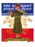 """You're in the Army Now""  Saturday Evening Post Cover  February 1  1941"