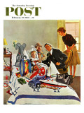 """Housecall "" Saturday Evening Post Cover  February 27  1960"