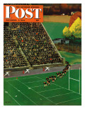 &quot;Onto the Field &quot; Saturday Evening Post Cover  November 1  1947