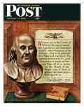 """Franklin Bust "" Saturday Evening Post Cover  January 17  1948"