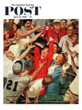 """Grandma Catches Fly-ball "" Saturday Evening Post Cover  April 23  1960"