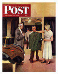 """Choosing a New Suit "" Saturday Evening Post Cover  November 20  1948"