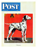 """Dalmatians "" Saturday Evening Post Cover  July 17  1943"