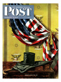 &quot;Commemorating Lincoln&#39;s Birthday &quot; Saturday Evening Post Cover  February 12  1944