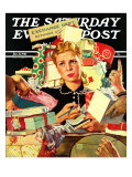 """Store Gift Exchange "" Saturday Evening Post Cover  January 11  1941"