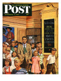 """After the Movie "" Saturday Evening Post Cover  September 6  1947"