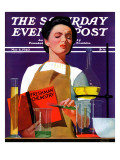 """Freshmen Chemistry "" Saturday Evening Post Cover  May 4  1940"