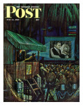 &quot;Army Entertainment &quot; Saturday Evening Post Cover  July 14  1945