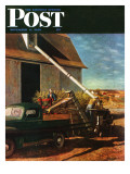 &quot;Storing the Corn &quot; Saturday Evening Post Cover  November 6  1948