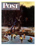 """Night Skating "" Saturday Evening Post Cover  December 16  1944"