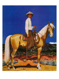 """Cowboy on Palomino "" September 18  1943"