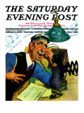 """Singing Telegram "" Saturday Evening Post Cover  April 13  1940"
