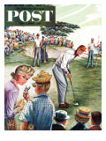 &quot;Distracted Pro Golfer &quot; Saturday Evening Post Cover  July 2  1960