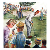 """Distracted Pro Golfer "" July 2  1960"