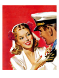 """Naval Officer & Woman "" August 8  1942"