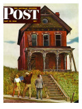 """This Old House "" Saturday Evening Post Cover  May 18  1946"