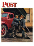 &quot;Speck of Coal &quot; Saturday Evening Post Cover  October 18  1947