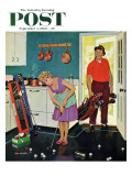 &quot;Putting Around in the Kitchen &quot; Saturday Evening Post Cover  September 3  1960