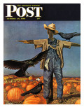 """Scarecrow "" Saturday Evening Post Cover  October 26  1946"