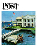 """Yacht Club "" Saturday Evening Post Cover  June 23  1962"