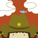 Peek-a-Boo Heroes: Cowgirl Reproduction d'art par Yuko Lau