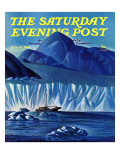 &quot;Navigating Through Icebergs &quot; Saturday Evening Post Cover  July 19  1941