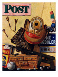 &quot;Still Life of Boys Toys &quot; Saturday Evening Post Cover  June 30  1945
