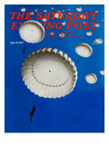 &quot;Sky Full of White Parachutes &quot; Saturday Evening Post Cover  September 20  1941