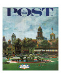 """Kansas City "" Saturday Evening Post Cover  September 23  1961"