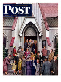 &quot;After Church &quot; Saturday Evening Post Cover  April 16  1949