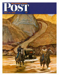"""Westward Tow "" Saturday Evening Post Cover  May 29  1948"