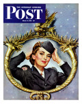 """Red Cross Volunteer "" Saturday Evening Post Cover  March 13  1943"