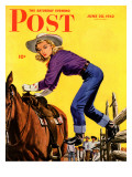 &quot;Woman at Dude Rance &quot; Saturday Evening Post Cover  June 20  1942