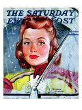"""Rainy Drive "" Saturday Evening Post Cover  December 7  1940"